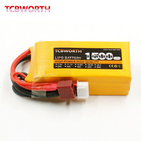 2PCS TCBWORTH 3S 11 1V 1500mAh 30C 60C RC LiPo Battery For RC Helicopter Airplane Quadrotor