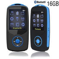 Factory Price 16GB Bluetooth Sports MP3 Music Player RUIZU X06 MP3 Player 1 8 Inch 100hours