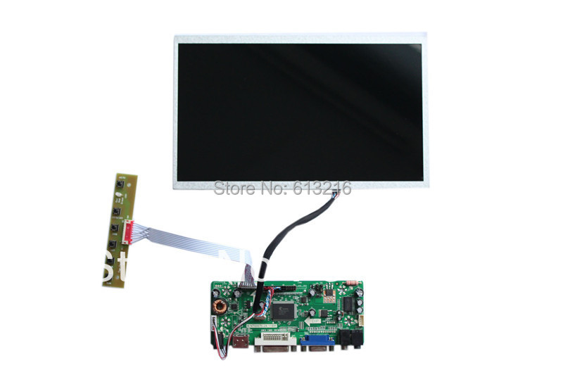 цены HDMI + DVI +VGA+  Audio of LCD main board +B101EW02V0 1280*720 +LVDS cable +OSD keypad with cable