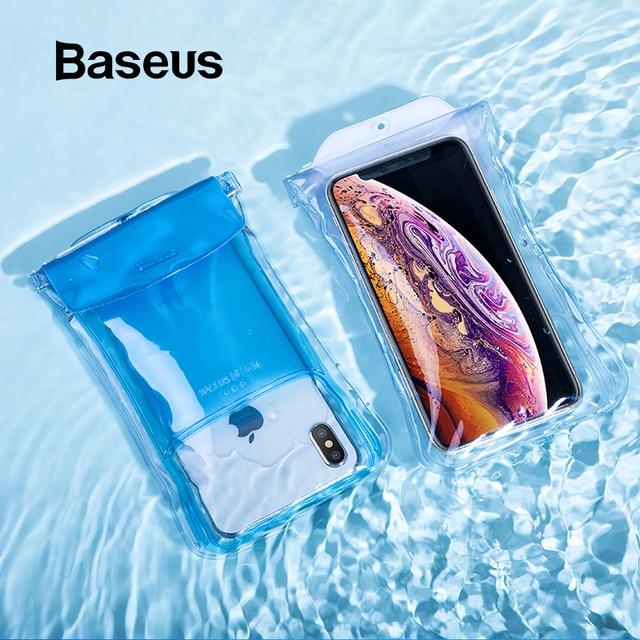 Baseus IP68 Trường Hợp Không Thấm Nước Cho iPhone XR Huawei P30 Samsung S10 Xiaomi Điện Thoại Pouch Bag Túi Khí Không Thấm Nước Hồ Lướt Sóng Bìa