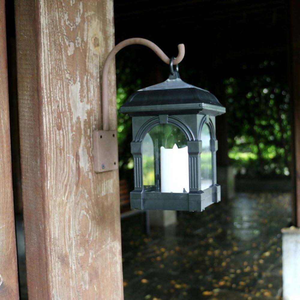 Solar Candle Lamp Courtyard Candlesticks Solar Powered ...