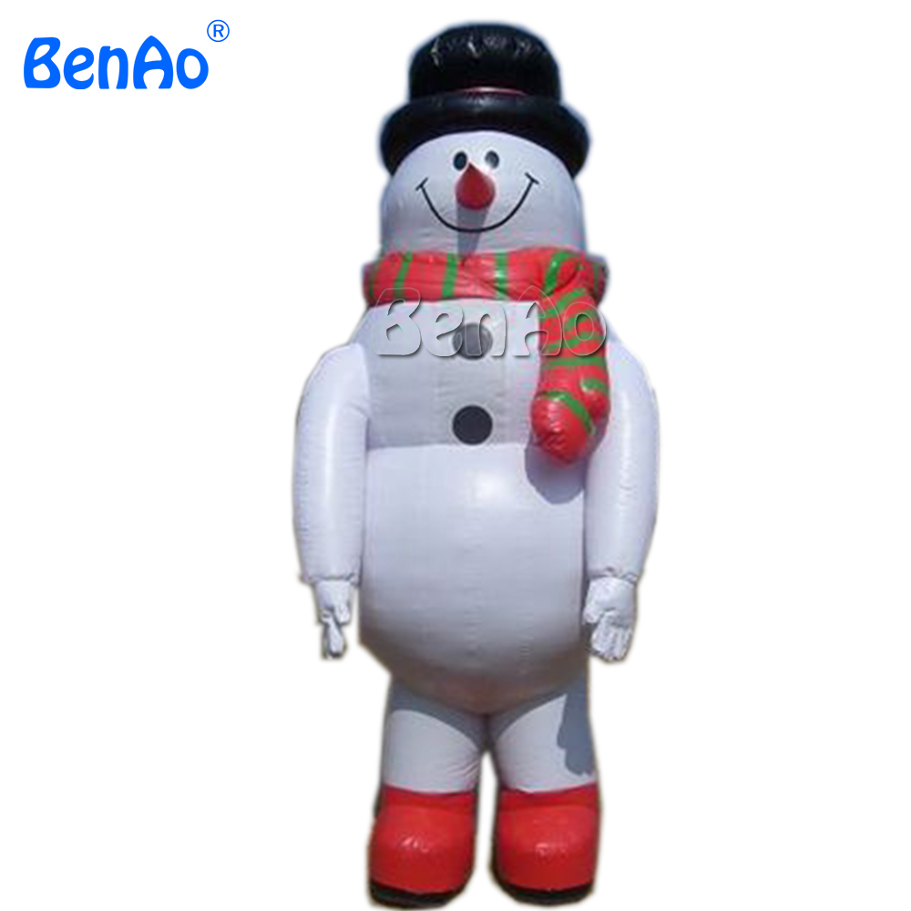 X105 DHL free shipping 6m high Inflatable snowman with scarf and hat/Outdoor Large Christmas Inflatable Snowman Decorations цена и фото