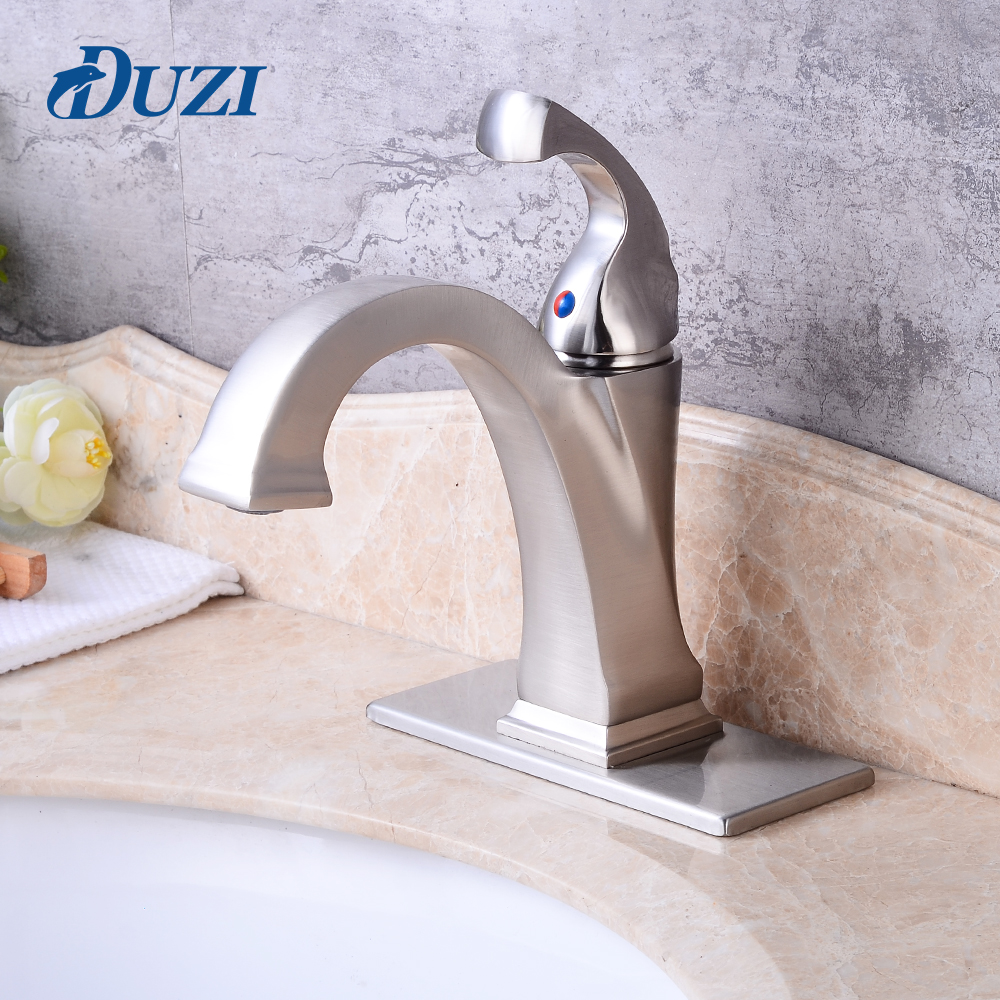 DUZI Basin Faucet Water Tap Bathroom Sink Mixer Tap Bathroom Vanity Hot and Cold Water Faucets Hole Cover Deck Plate Escutcheon ulgksd bathroom faucet dual switch deck mount hot and cold water mixer tap para vanity sink faucets mixing valve