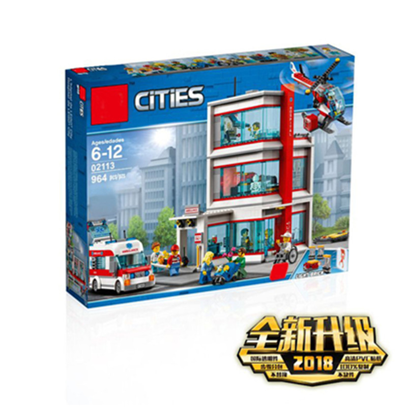 New City Serices Hospital Set C ompatible LegoINGLY City 60204 Series Building Blocks Bricks Kits Kids Educational Toys Gift 10B