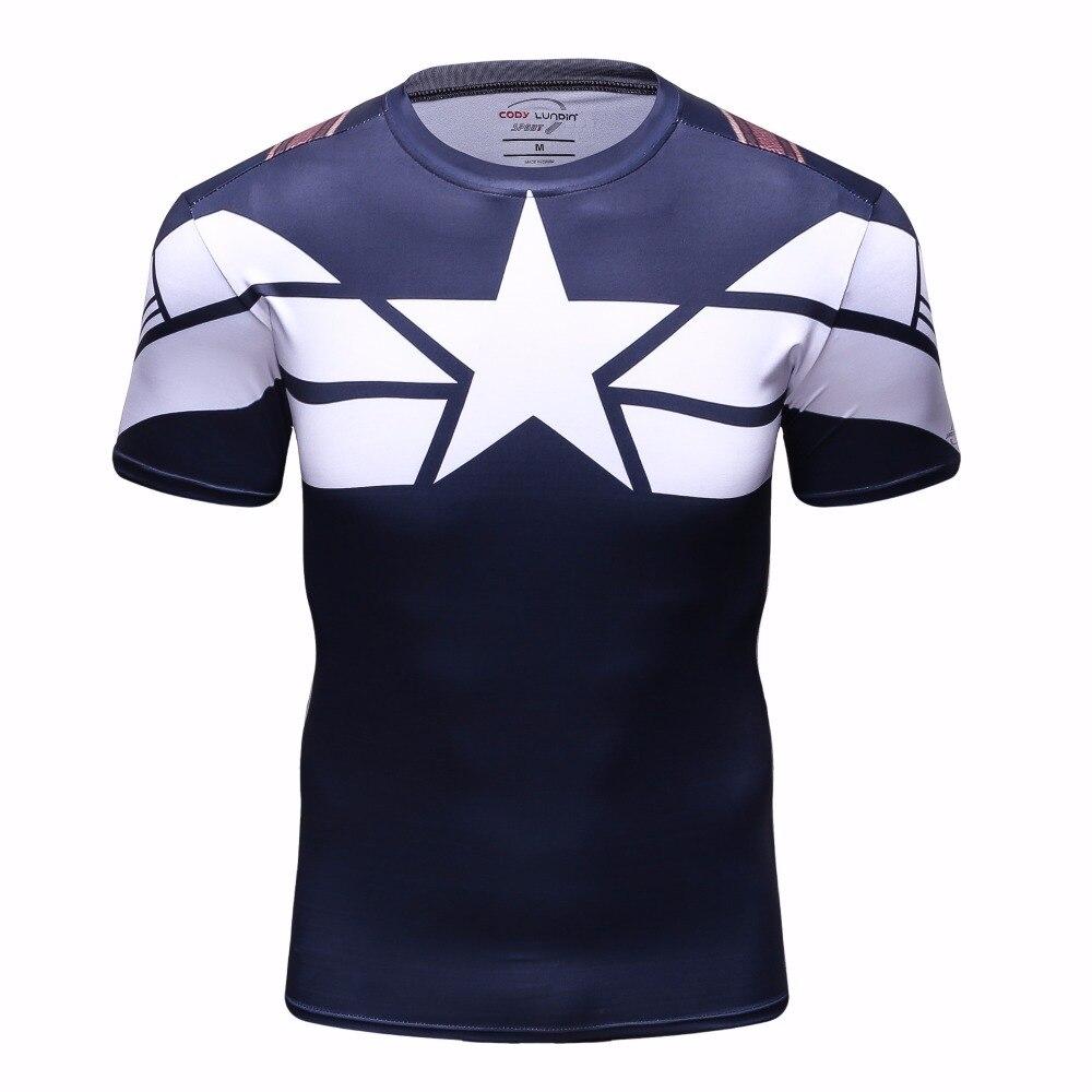 Nuevo 3D Impreso THOR Cosplay hombre Camisetas de Compresión Camisetas Manga Corta Traje de Fitness Crossfit Hombres BodyBuilding Superhero