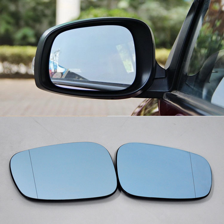 Ipoboo 2pcs New Power Heated w/Turn Signal Side View Mirror Blue Glasses For Suzuki Swift