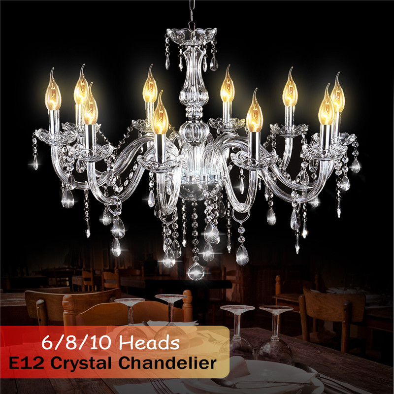 Smuxi Modern Crystal Chandelier Living Room lustres Decoration Chandeliers Home Lighting Indoor Lamp E12 6/8/10 Heads luxury modern cognac color classic home decoration lighting indoor lamp k9 crystal lustres chandelier for living room restaurant