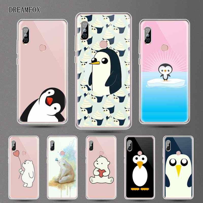 DREAMFOX N132 Adorável Pinguim Urso Polar Capa de Silicone TPU Macio Para Xiaomi Redmi Nota 3 4 5 Plus 3 S 4A 4X 5A Mundial Pro Caso