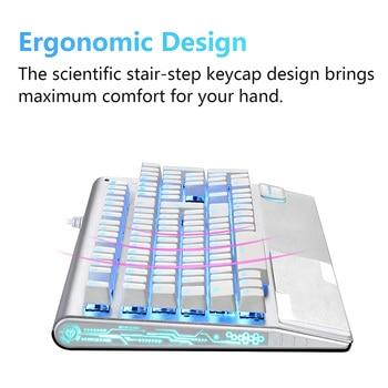 цена на X1000 Gaming Keyboard Metal Panel USB Wried,Mechanical feel, LCD Backlit Keyboard For Computer,Home ,Office