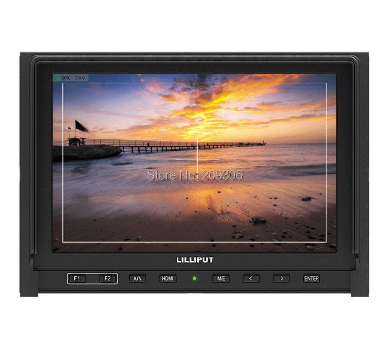 LILLIPUT 339 7 IPS LED HDMI field FPV monitor with AV HDMI input built-in 2600mAh battery for Full HD camera HDMI monitor