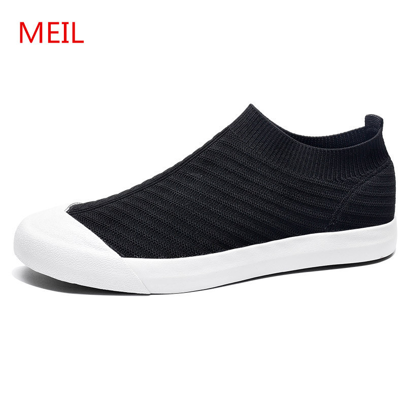 Male Breathable Comfortable Casual Shoes Men Fashion Men Sneakers Zapatillas Sneaker Zapatos De Hombre Male Shoes Black Gray in Men 39 s Casual Shoes from Shoes