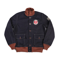 READ THE DESCRIPTION! US air force A1 style 980 GSM vintage wool jacket