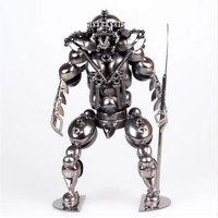 1PCS Metal Crafts Iron Robot Monster Model Decoration Photography Props Creative Bar LU628145
