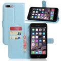 Venta caliente wallet case para apple iphone 7 7 plus magnética flip case pu de cuero con titular de la tarjeta elegante del soporte de marco de fotos cubierta