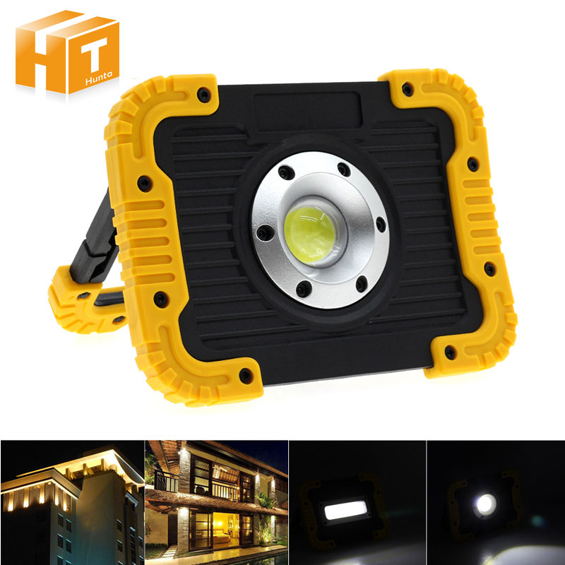 COB LED Floodlight High Brightness Outdoor Waterproof IP65 Portable Flood lighting Garden Camping Hiking Tent Light