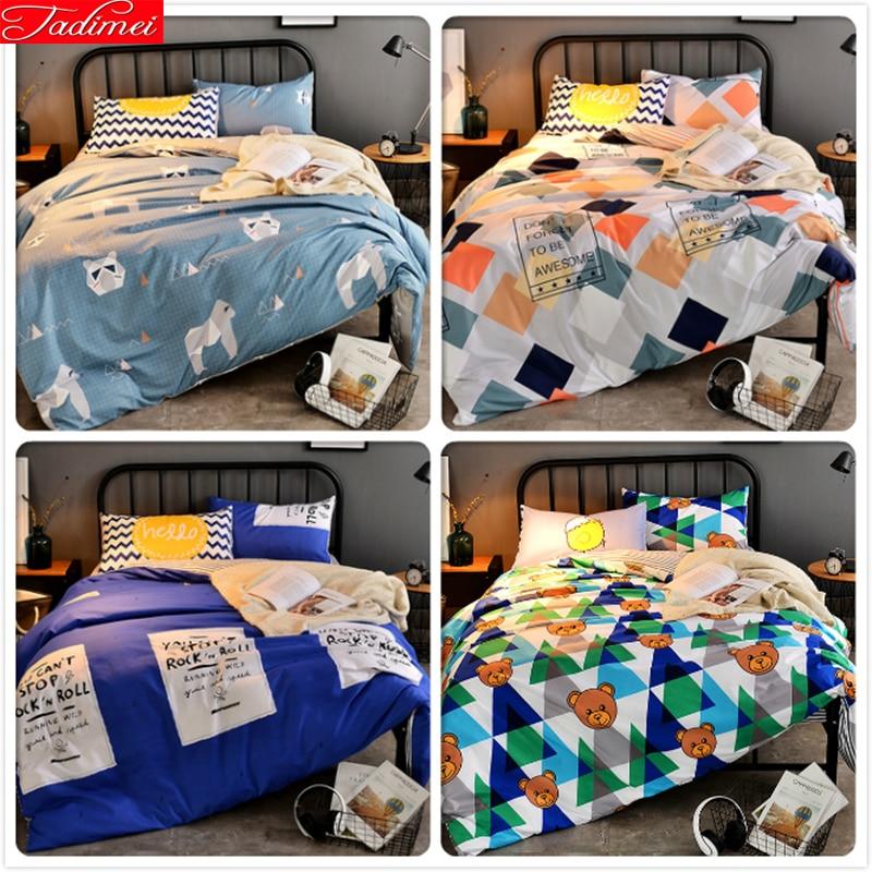 Geometric Pattern Bedlinen 1.5m 1.8m 2.0m 2.2m 2.3m Bedsheet Bed Linen Suit 3/4 pcs Bedding Set Full King Queen Size Duvet CoverGeometric Pattern Bedlinen 1.5m 1.8m 2.0m 2.2m 2.3m Bedsheet Bed Linen Suit 3/4 pcs Bedding Set Full King Queen Size Duvet Cover