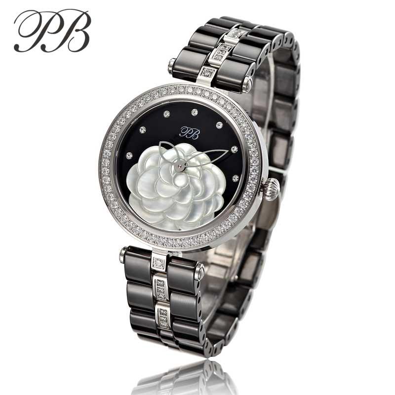New Lady PB Top Marka Luxury Fashion Watch Kobiety OEM ceramiczne - Zegarki damskie - Zdjęcie 3