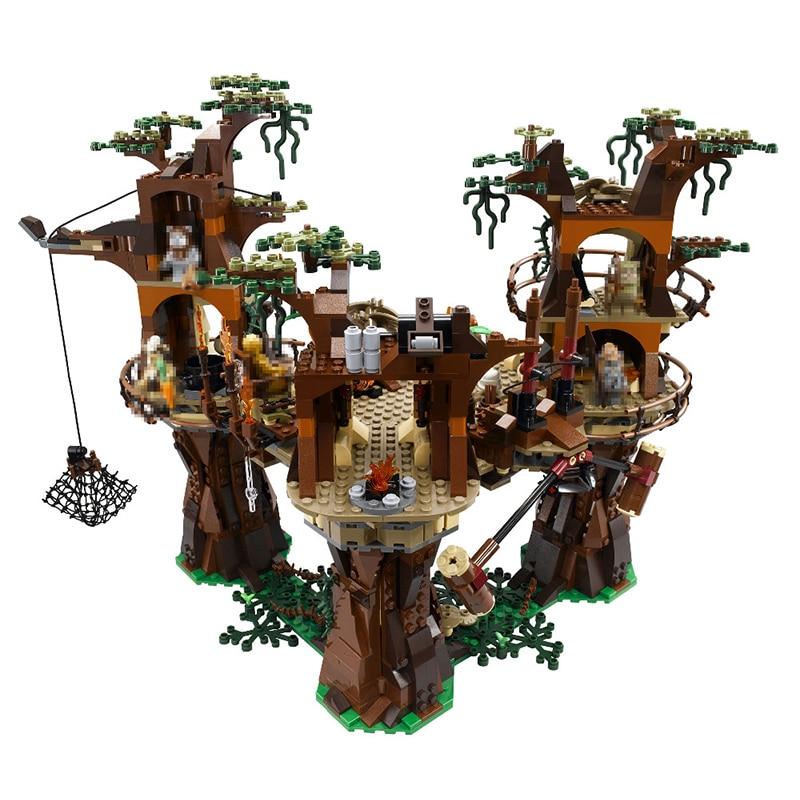 Lepin StarWar 1990pcs 05047 Ewok Village Building Blocks Juguete Para Construir Bricks Toys Compatible LegoINGly Friends 10236