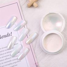 Poudre à ongles, poussière blanche, 7 couleurs, décoration Nail Art, effet miroir, accessoires pour ongles, accessoire #289952