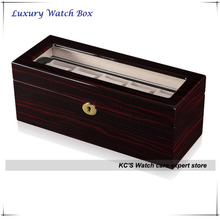 High End Double Layer High Grossy Finish Wooden Watch Case for RLX Watch Clear Lid for Display Box GC02-LG1-05EX