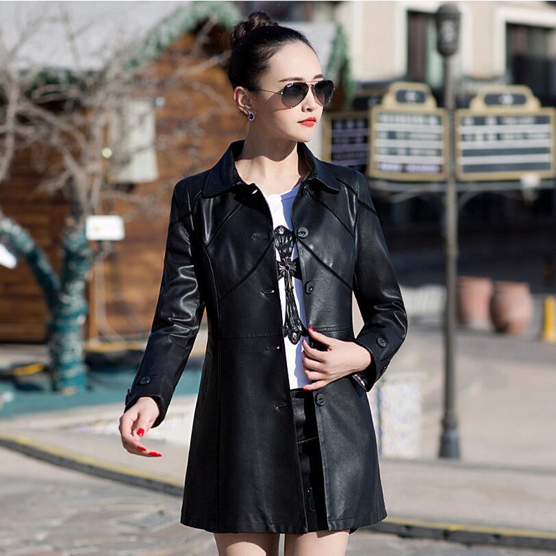 Section Automne Nouvelles vert Femmes De Poitrine Taille Grande Et En La Unique Slim Cuir l marron Noir Longue D'hiver Pu Clothing 5xl rouge or Manteau 7gEqxw7rt