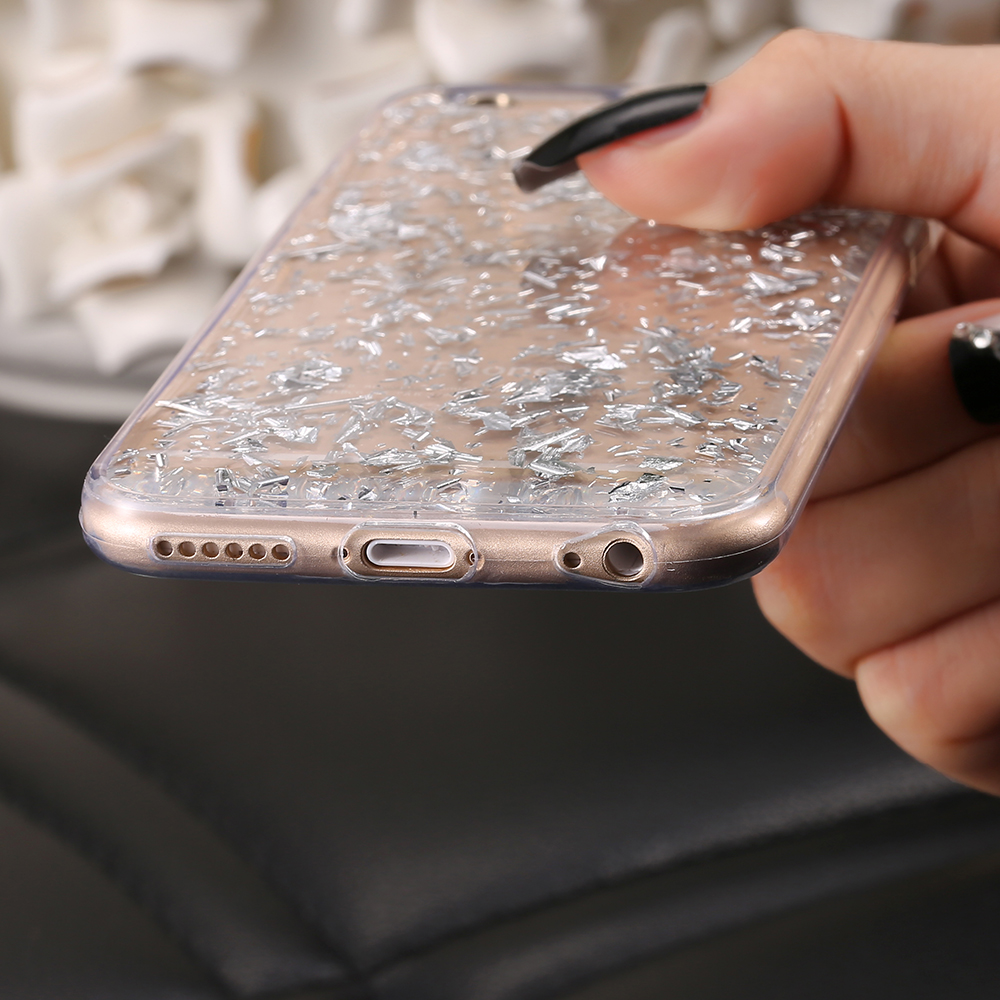 the best attitude 9c02f c66f9 US $2.49 |Cute Glitter Case For iPhone 8 7 6 6S Plus 5 S SE X Cover Clear  Transparent Case For Samsung Galaxy S8 Plus S7 S6 Edge S5 Note 8-in ...