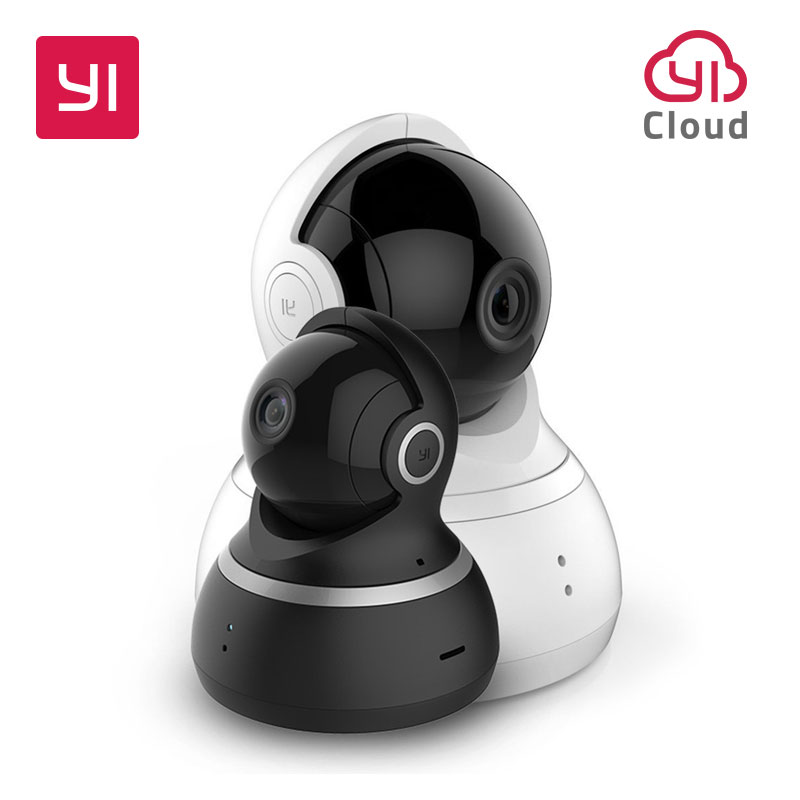 YI Dome Camera IP 1080P Wifi Wireless Alarm Callback Home Security Surveillance System 360Degree Coverage Night Vision EU Cloud