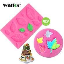 WALFOS Mini Rose Leaves Silicone Mold Fondant Cake Border Cupcake Lace Mat Decoration Tool