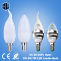 free shipping 1pce 110V 220V 85-265V 3W 5W 7W E14 Warm/Cold White NEW led candle ceiling chandelier lights led light bulbs