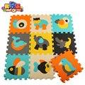 Бесплатная доставка 9 шт./компл. Puzzle carpet ребенка играть мат коврик напольный пазл дети EVA foam carpet мозаичный пол пингвин рыбы крокодил