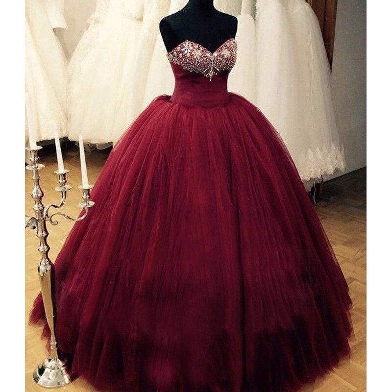 Vestidos De 15 Anos Burgundy Quinceanera Dresses 2017
