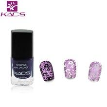 KADS Noble violet femmes amour Nail Art timbre estampage vernis à ongles Art paillettes vernis à ongles pour ongles manucure bricolage outils de modèle