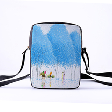 CROWDALE Women Crossbody Bags Butterfly Printing for Kids Casual Mini Female Children Messenger Bolsos Mujer 23x17x5cm