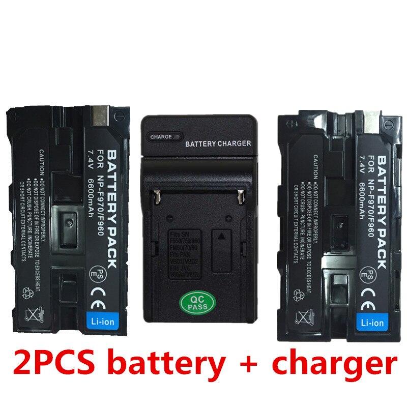 NP-F970 NP-F960 batteries au lithium F970 batterie Pour appareil photo Sony HDR-AX2000 FX1 FX7 FX1000 NPF960 Pour lampe de poche LED Batterie