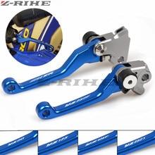 For YAMAHA YZ125 2001-07 YZ250 YZ250F 2001-06 YZ426F YZ450F CNC Pivot Brake Clutch Levers Dirt Bike Blue
