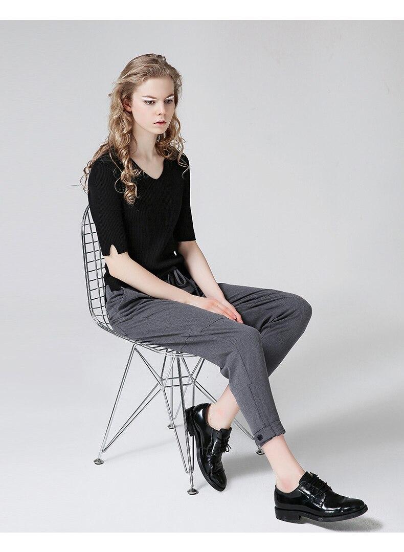 ... sobre que antes de comprar un Toyouth Harem pantalones mujeres 2018  verano flojo Pantalones mujer Mediados de cintura longitud del tobillo con  cordones ... dcf83a836dfa