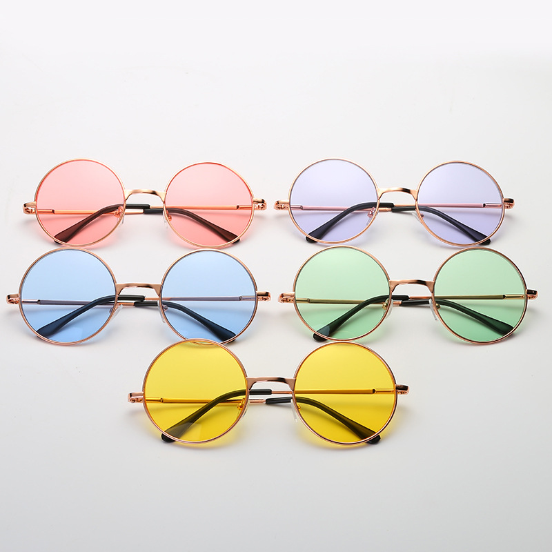 0e17d5a20ac4 DIGUYAO Vintage classic Multicolour Round Sunglasses Women Metal frame  Mercury Reflective Sunglass Men Brand Sun Glasses-in Sunglasses from  Apparel ...