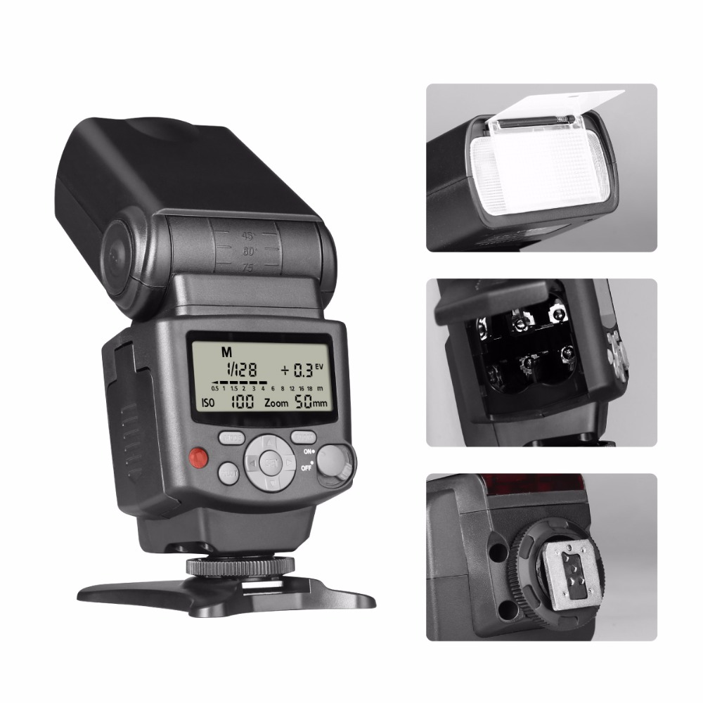 Image 3 - Voking VK430 I TTL LCD Display Blitz Speedlight Flash for Nikon D5500 D5300 D3300 D7200 D3400 D5300 D500 D7500 D750 D5600-in Flashes from Consumer Electronics