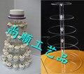 Бесплатная Доставка 6 уровня Высокого Качества OEM и ODM акриловые Торт поп Стенд, акрил кекс стенды оптовая