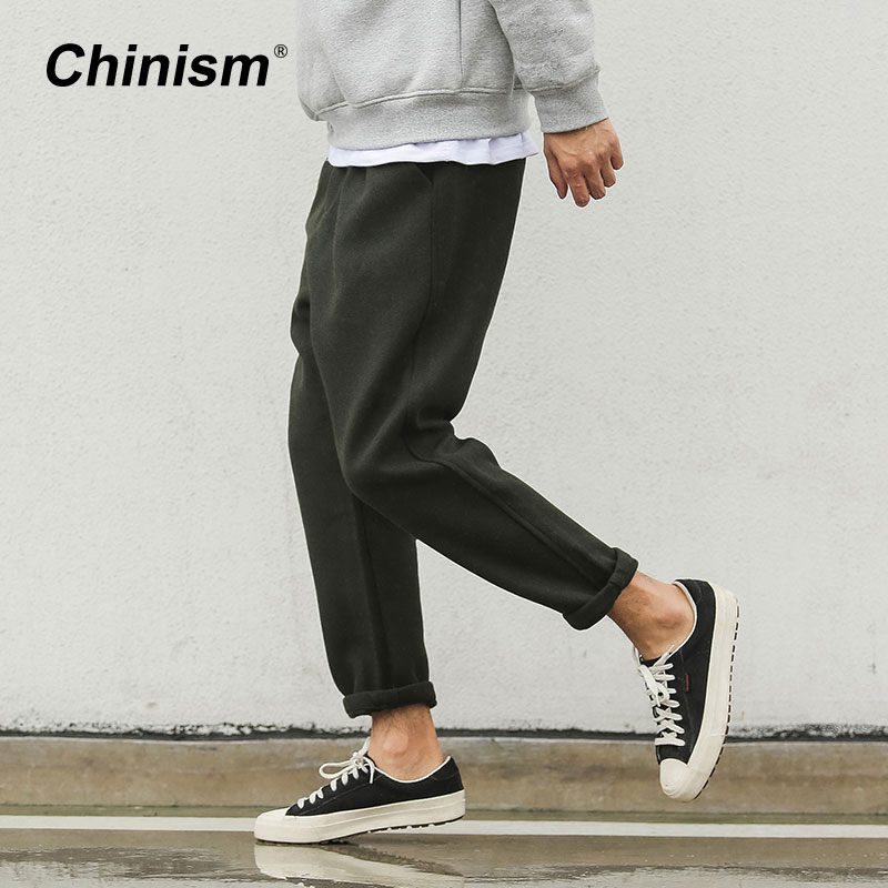 CHINISM Military Classic Men Casual Pants Casual Wool&Cotton Mens Cargo Pants Breathable Cool Brand Trousers