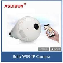960P 360 Degree Fisheye Panoramic Wifi Wireless P2P mini Network IP Camera LED Bulb Light Home Security System For IOS Android