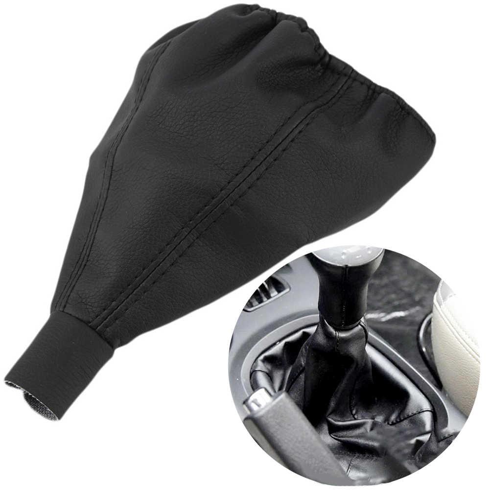 Dişli araç vites topuzu Boot araba dayanıklı iç Styling oto deri tozluk kaymaz kolu aksesuarları PU SKODA