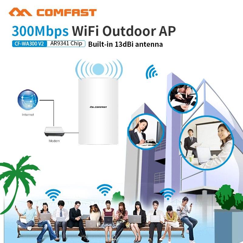 300 mbps 48 V Poe sans fil Wifi répéteur 2.4 Ghz haute puissance extérieur étanche Extender Wifi antennes Wifi couverture Base Stastion AP