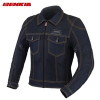 BENKIA JC34 Denim Motorcycle Jacket Men's Biker Moto Bicicleta Riding Clothing Motorcycles Protective Gear Motorbike Jacket