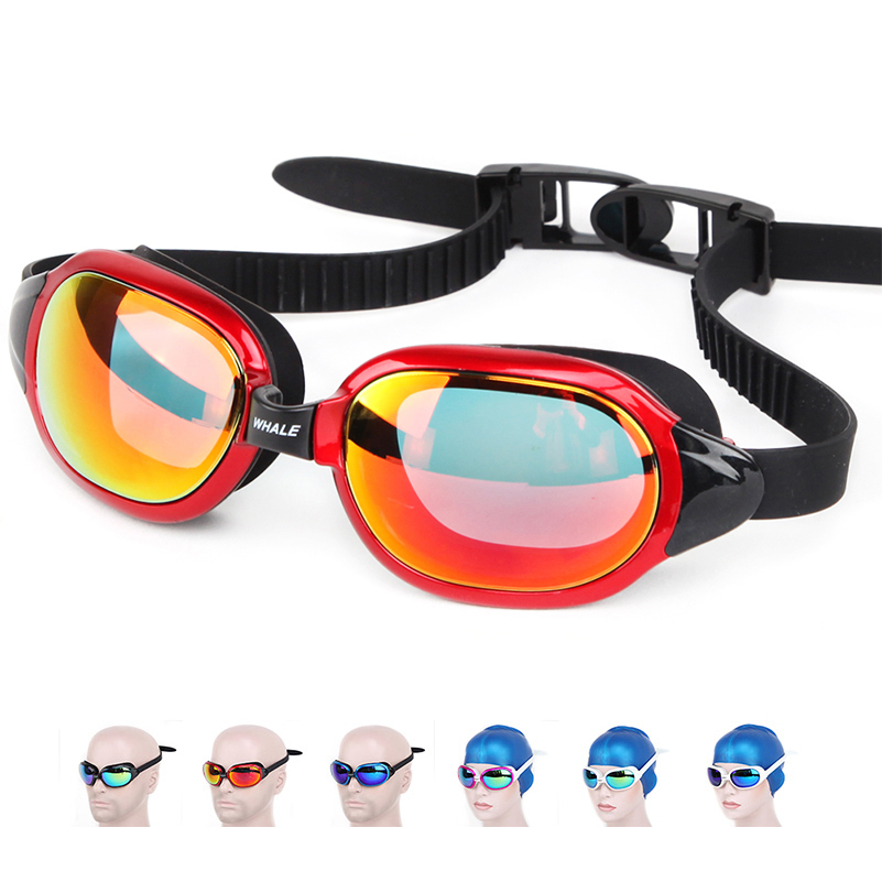 ee92c5f2ff8 Detail Feedback Questions about Whale Professional brands Waterproof  silicone Swimming glasses Anti Fog UV swim goggles for men women goggles  Eyewear on ...