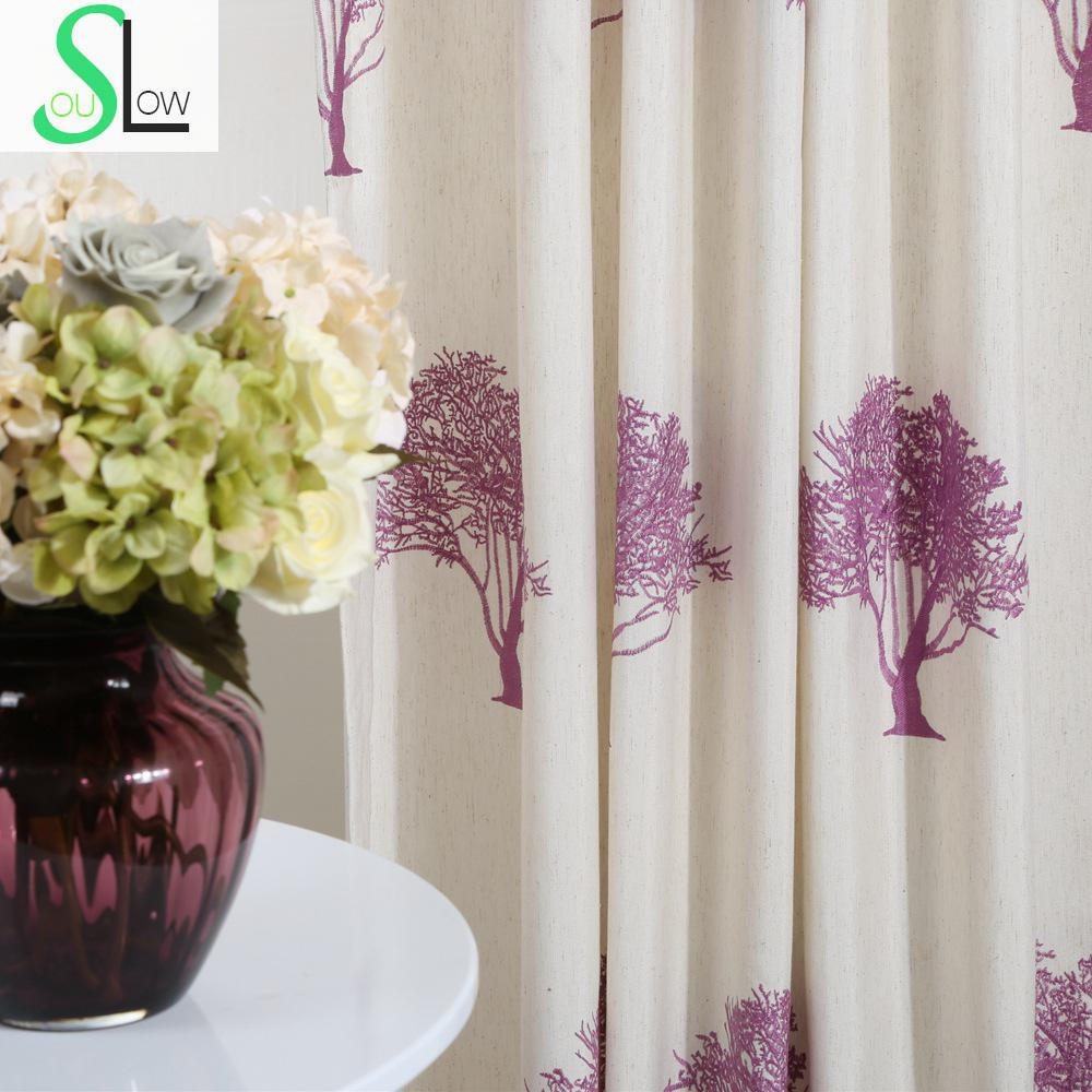 Curtains texture - Texture Tree Cotton High Density Embroidery Curtain Multicolor French Window Plant Curtains Living Room Modern Children