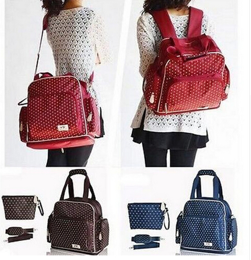 ФОТО New Fashion High Quality Baby diaper bags nappies Backpack Shoulder Durable Diaper Bags Nappy Mummy Bags tote