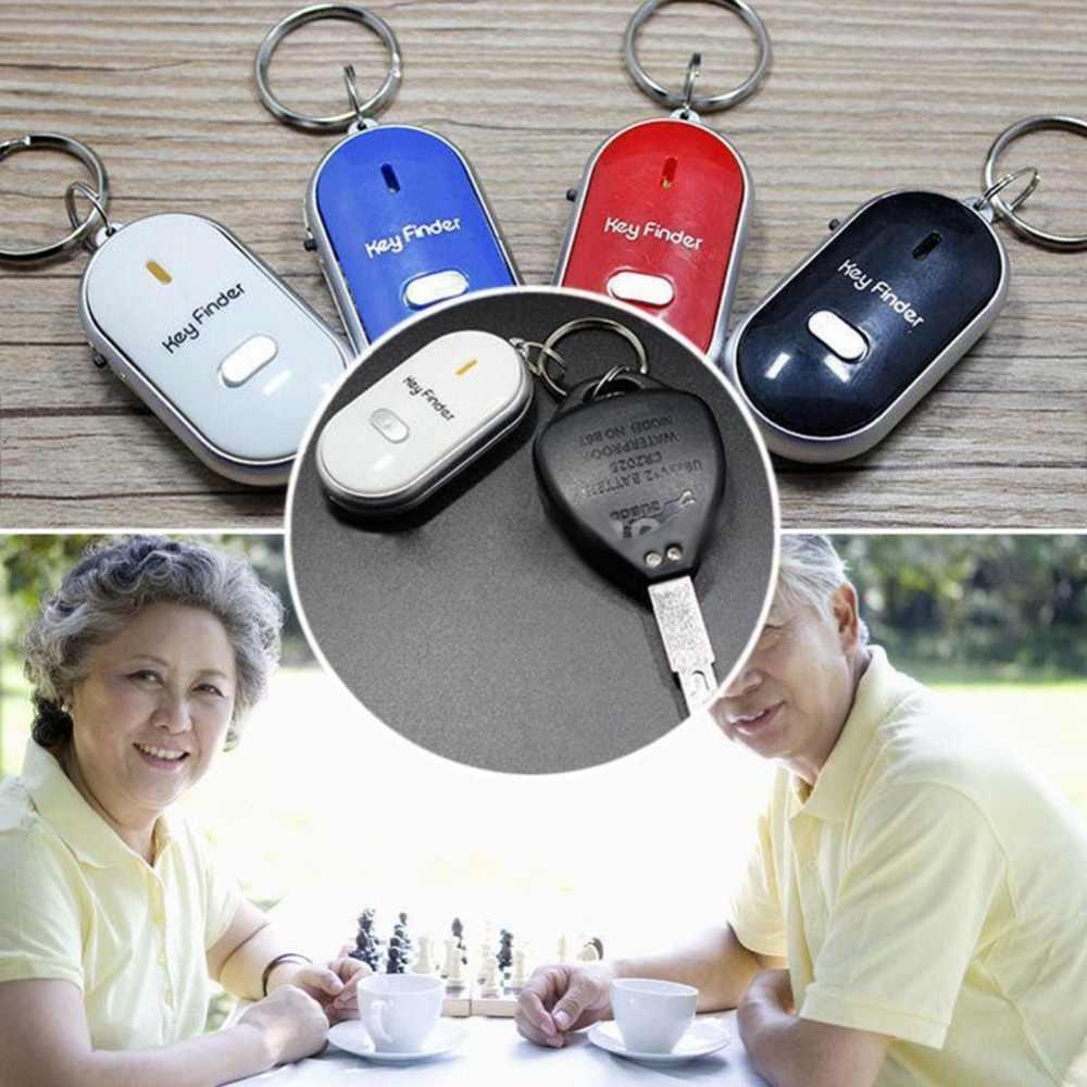 ใหม่ Wireless Anti - Lost Alarm Key Finder Locator Keychain เสียงนกหวีด LED Light Tracker Anti - Lost อุปกรณ์ผู้สูงอายุ/เด็ก/สัตว์เลี้ยง