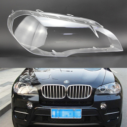For BMW X5 E70 2008 2009 2010 2011 2012 2013 Car Headlight Headlamp Clear Lens Auto Shell Cover