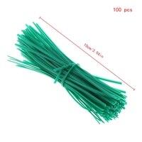 100 шт. сад покрытием твист провода строка галстук завод Поддержка пластик ремень кабели Прямая доставка